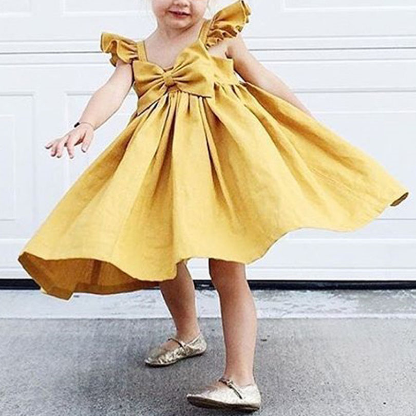 Toddler Infant Girl Tutu Dress Kids Baby Ruffle Princess Party Pageant Dresses Kids Girls Tube Top Dress Summer Bow Dresses 0-4Y 3 colors summer little baby girls mesh princess dress kid girl party pageant tutu dresses quiet clothing 2 11t