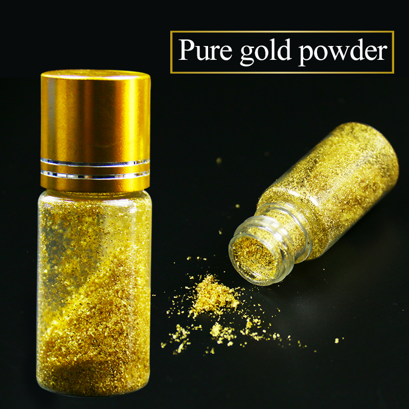 One bottle 24K Real gold powder, small flakes of genuine gold leaf, edible ,facial,food decoration,0.1g per bottle,free shipping