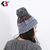 Slouchy Beanie Invierno Cálido Forro de Lana Gruesa de las mujeres Cable Knit Del Cráneo Del Sombrero de Esquí Cap