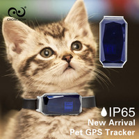2018 New Waterproof GPS Tracker for Cats with Collar Mini GPS Tracker Dog Pets Cow Horse Free Lifetime APP and Platform
