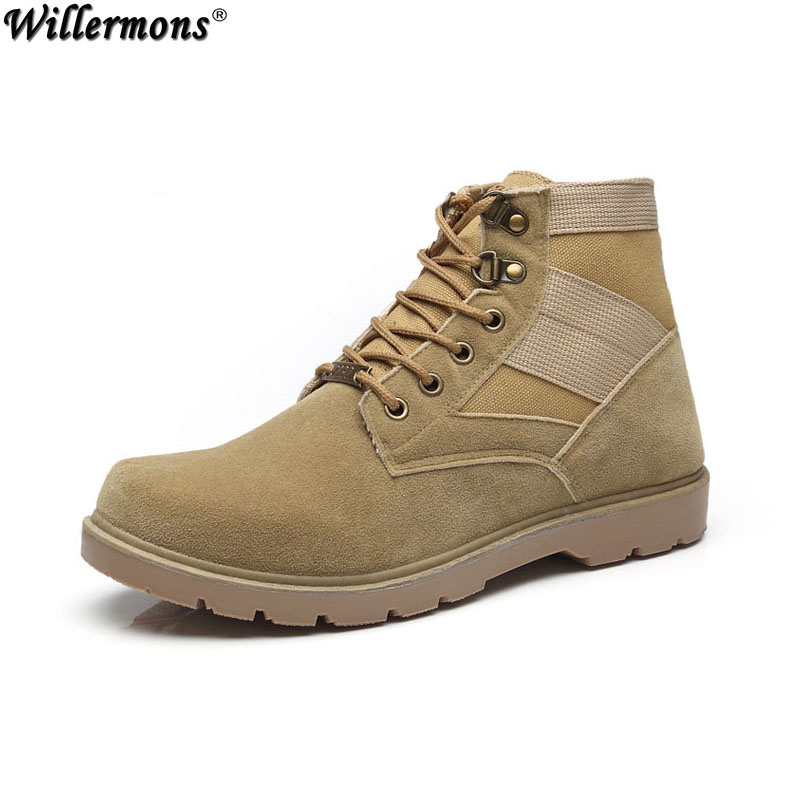 2017 Men's Outdoor Desert Army Combat Boots Men Winter Military Tactical Work & Safety Martin Boots Shoes Botas Hombre
