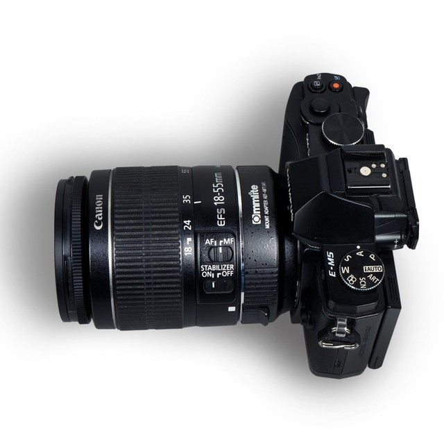 Commlite af eletrônico auto-foco embutido é adaptador de montagem de lente ef-m4/3 para canon eos ef/ef-s-lente para m4/3 câmera gh3 gh4 GX7