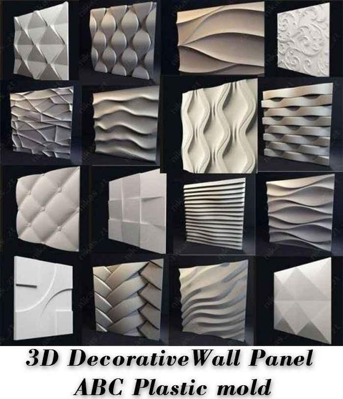 Plastic Form Molds Moulds For 3d Tile Panels Mold Plaster Wall Stone Wall Art Decor Plaster Gypsum Alabaster Tenderness Molds