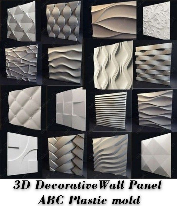 Crafts Ceramics & Pottery Latest Collection Of *tenderness* 3d Decorative Wall Panels 1 Pcs Abs Plastic Mold For Plaster