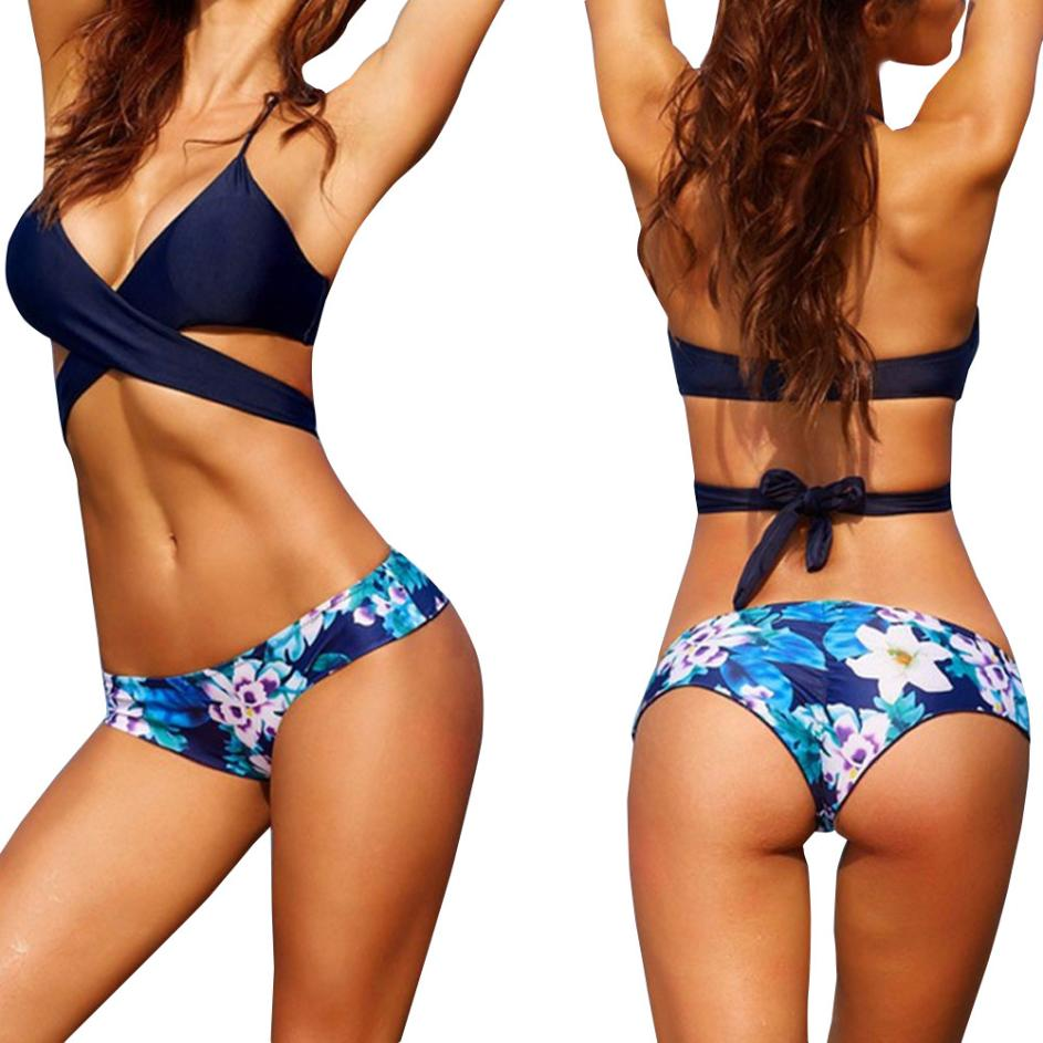 bikini 2018 Sexy Women Bikini Set Swimwear Push-Up Padded Bra two-piece suits bathing suit women sexy bikini set swimsuit #30 sexy padded push up bikini swimwear swimsuit bathing suit 2 pcs