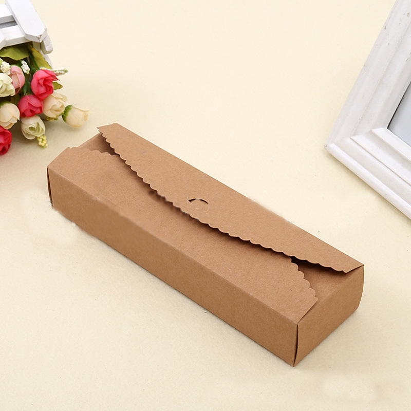 Wholesale((30pcs/lot) Rectangle Kraft Lace Style Cardboard Box ,Kraft Brown Gift Box, Party box, kraft paper candy cake box