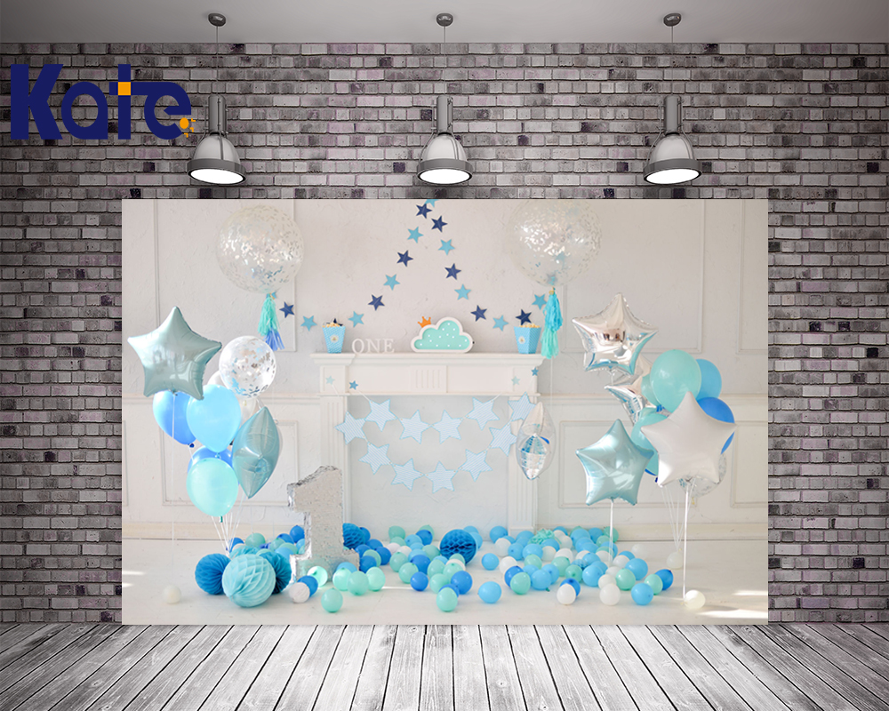 KATE 5x7ft Photo Background New Born Baby Photo Birthday Backdrop 1st Birthday Blue Balloon Backdrop for Children Photo Studio игорь алексеевич фадеев жизнь плохая а хочется рая