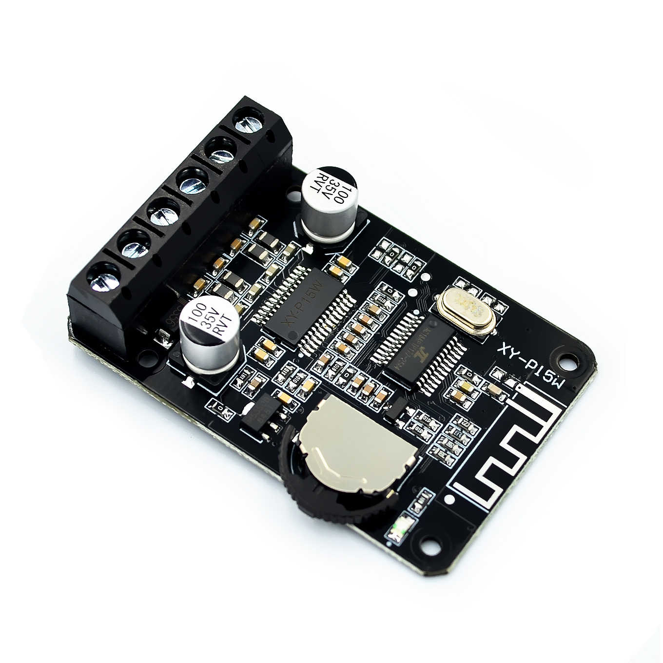 10 W/15 W/20 W/30 W/40 W Stereo Bluetooth Eindversterker Board 12 v/24 V High Power Digitale Versterker Module XY-P15W