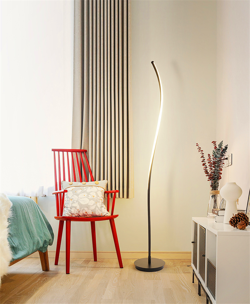 Modern Minimalist Wrought Iron Dimming Lights Floor Lamp E27 220V Lighting Living Room Bedroom Kitchen Living Room Study Hotel in Floor Lamps from Lights Lighting