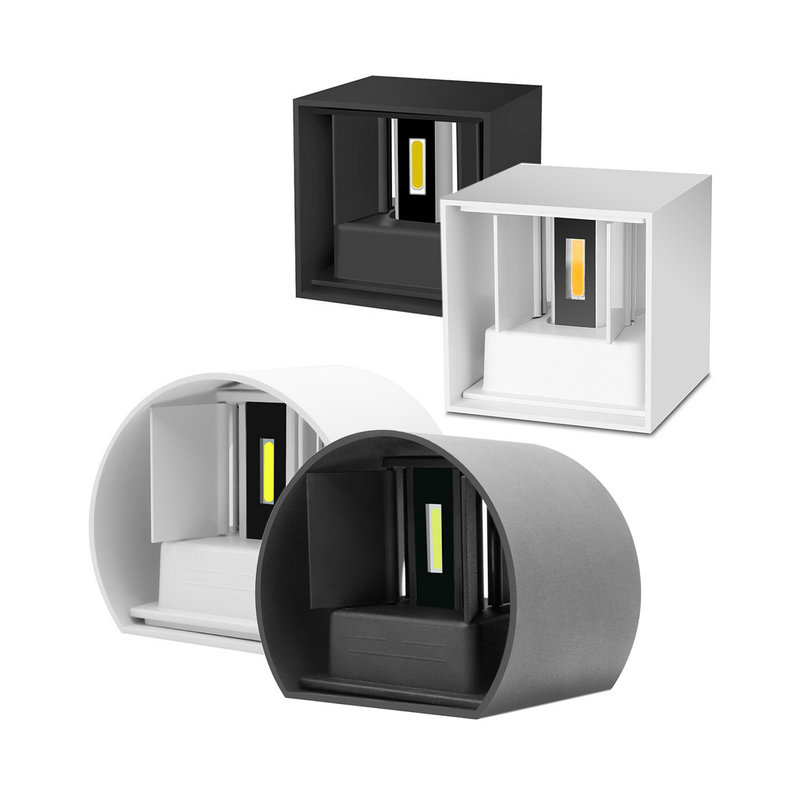 6W IP65 outdoor Led Wall Lamp Aluminum Square Adjustable ...