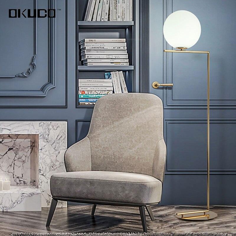 Moderne Simple Lampadaires D or Pour Chambre LED Source Design