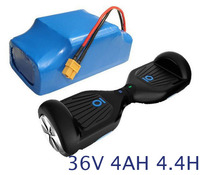 36V Rechargeable lithium ion battery pack 4400mah li ion cell for 2 wheel electric self balance scooter skateboard hoverboard