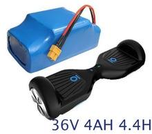 36 V 4.4AH batería recargable li-ion battery pack 4400 mah vehículo de células de iones de litio para scooter eléctrico auto equilibrio monociclo monociclo