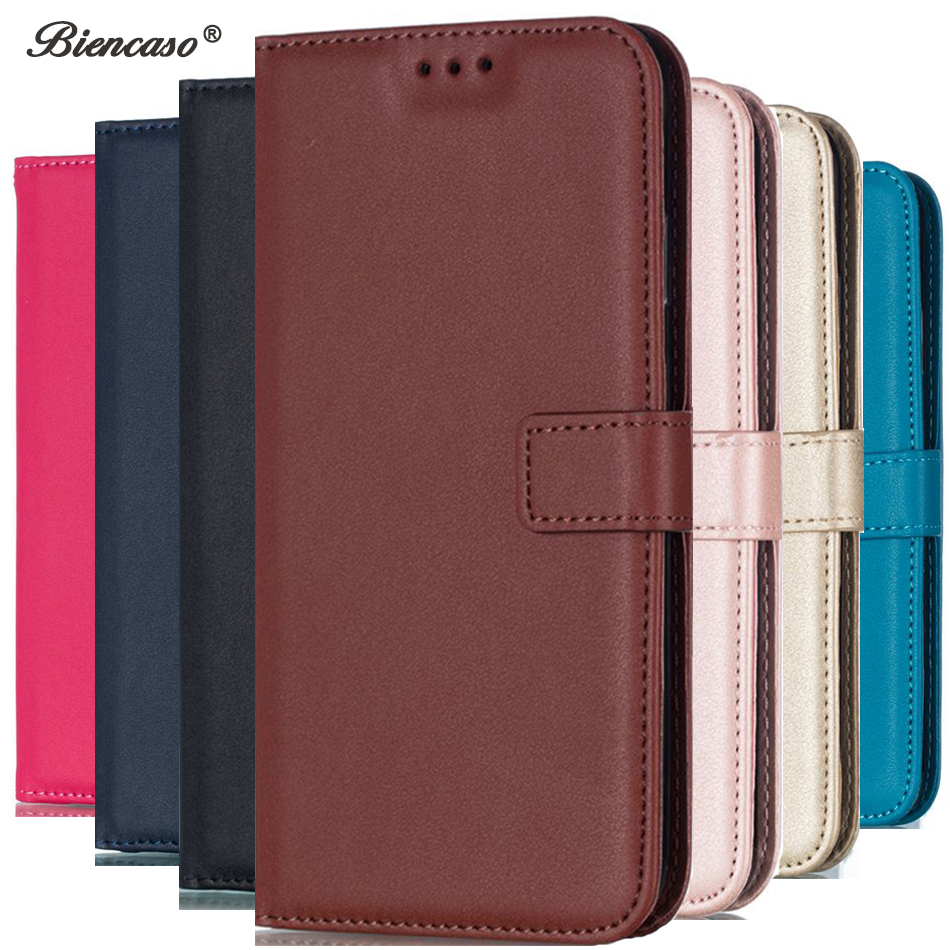 057f10290e0 For OnePlus 5 1 + 5 Plain Color Cover Coque PU Leather Flip Wallet Case for  Wiko