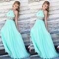 Новый Сексуальный 3 Цвета Женщины Лето Платья для Торжеств и Вечеринок Свадебное Бальное платье Выпускного Вечера Холтер Длинные Повседневная Пляж Maxi Dress