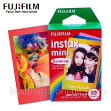10 Sheets Fujifilm Fuji Instax Mini 8 Film Rainbow Instant camera For 8 7s 7 50s 50i 90 25 dw Share SP-1 Camera Photo Paper