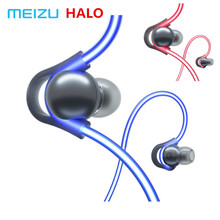 Original Meizu HALO Laser flash Bluetooth Headset In Ear Sports Running Earphone with mic Earbuds magnetic for all phones OS IOS