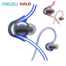 Original Meizu HALO เลเซอร์แฟลชบลูทูธหูฟังกีฬาหูฟังพร้อมไมโครโฟนหูฟังแม่เหล็กสำหรับโทรศัพท์ OS IOS