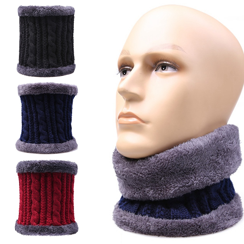 Velvet Scarf Shawl Warm-Collar Knitted Wool Soft Winter Solid-Color Women New Plus Unisex