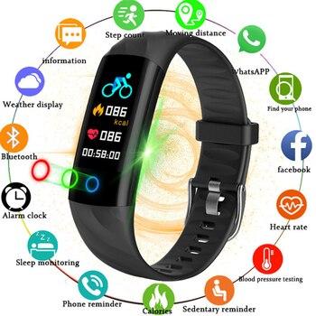 nueva llegada 76822 321e9 BANGWEI 2018 nuevo reloj inteligente para mujer, reloj deportivo resistente  al agua, reloj Digital con Monitor de frecuencia cardíaca y presión ...