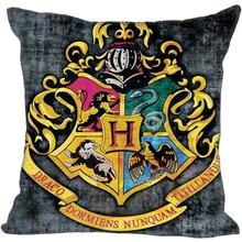 G0909-47 Mejor Signo de Harry Potter Hogwarts School Funda de Almohada 35×35 cm Con Cremallera Cubierta de Almohadas