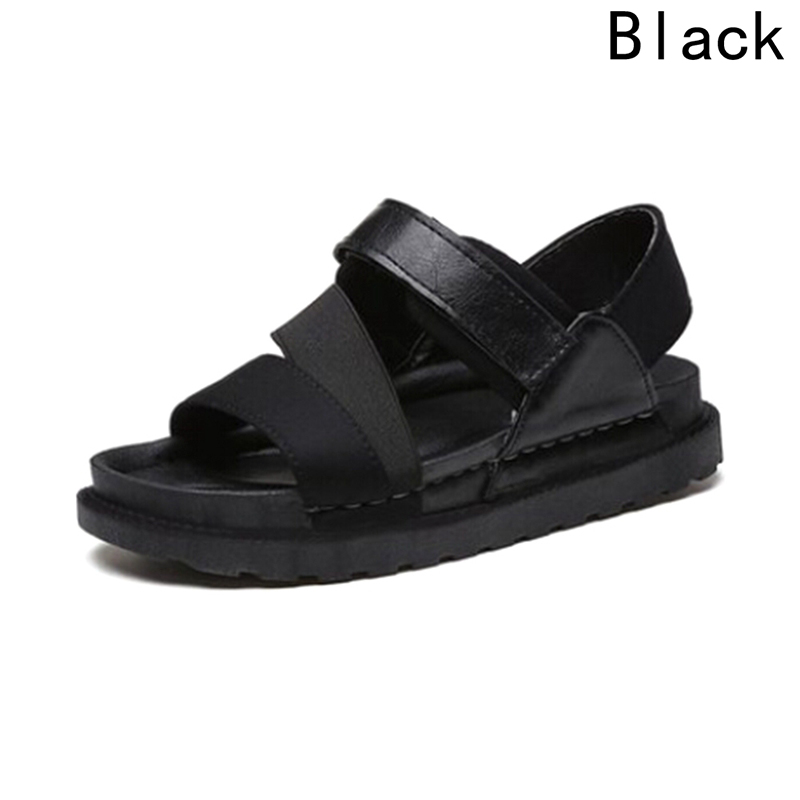 2018 Summer Women Leather Flat Fashion Women Shoes Casual Occasions Comfortable The Female Sandals women s shoes 2017 summer new fashion footwear women s air network flat shoes breathable comfortable casual shoes jdt103