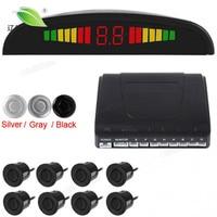 1 Set Car Led Parking Sensor 3 Colors Parktronic Display 8 Sensors Reverse Backup Assistance Radar Monitor Parking System