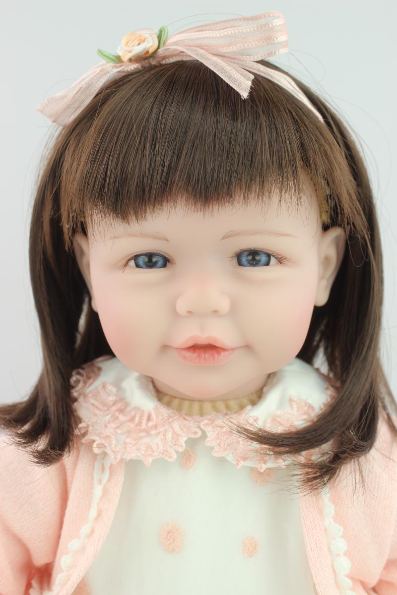 ФОТО 52CM Top Quality Fashion Reborn  Baby GIRL Doll Toys  Baby Alive soft  vinyl toddler dolls handmade Girls Gift
