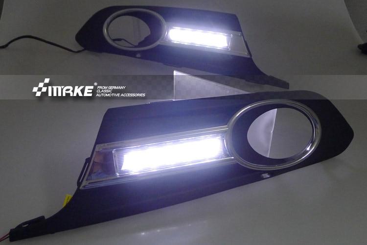 цена на New Arrival Professional CAR-Specific 2012 for Volkswagen VW Jetta Sagitar LED DRL LED Daytime Running Light for Free Shipping