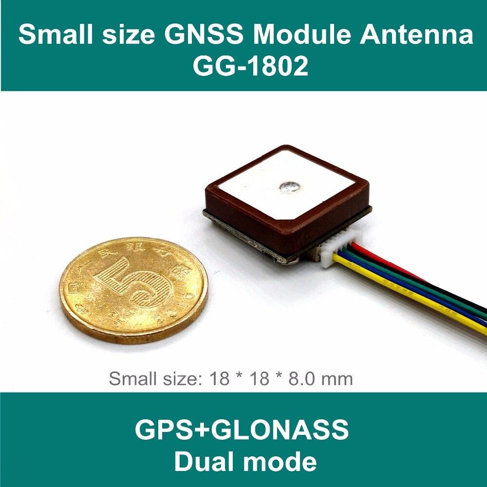 Tamanho pequeno módulo GPS GLONASS GNSS, GPS antena de recepção, neo m8n Solução, GNSS módulo, dupla GPS Módulo, UART nível TTL, GG-1802