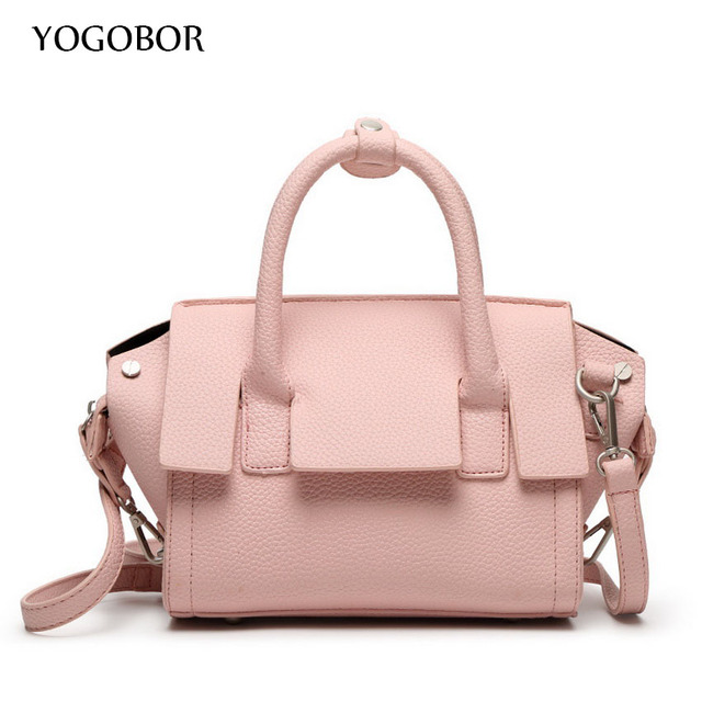 363c60664ca4 2016 Spring Smiley PU Leather Tote Bag Women Trapeze Fashion Designer  Handbags High Quality Ladies Bags Solid Crossbody Bags