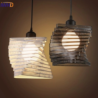 IWHD Loft Retro Led Pendant Lights Industrial Vintage Iron Hanging Lamp Stair Bar Light Fixture Home Lighting Hanglamp Lustre vintage iron pendant light loft industrial lighting glass guard design cage pendant lamp hanging lights e27 bar cafe restaurant