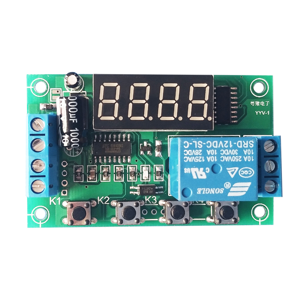 DC 12V Charging Discharge Switch Control Module Voltage Monitor Switch Control Board Module with Upper and Lower Alarm dc 12v led display digital delay timer control switch module plc automation new