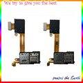 Originais micro sd sim card reader titular slot do conector cabo flex fita para sony xperia m2 d2303 d2305 d2306 s50h sim flexível