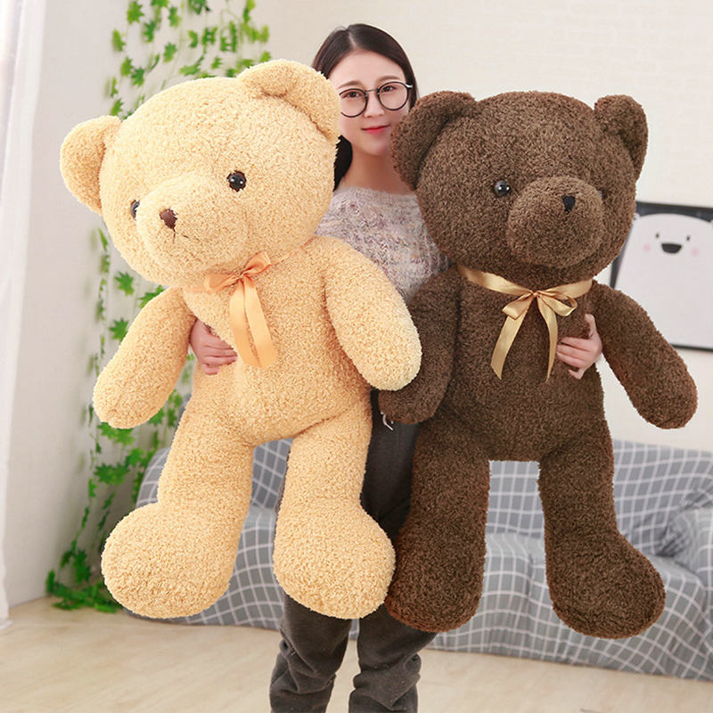 Drop shipping large size 110cm Cute bear plush toys bear doll stuffed PP Cotton plush animals birthday gift for baby