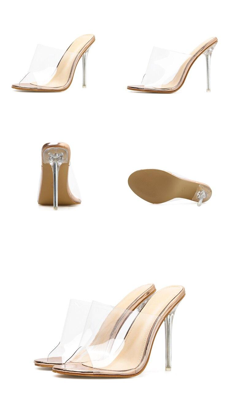 HTB1wUTyeliE3KVjSZFMq6zQhVXac Eilyken 2019 PVC Jelly Sandals Open Toe High Heels Women Transparent Perspex Slippers Shoes Heel Clear Sandals size 35-42