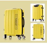 Universal wheels luggage travel bag picture14 20 24 28 password box large capacity trolley luggage brake wheel hard suitcase