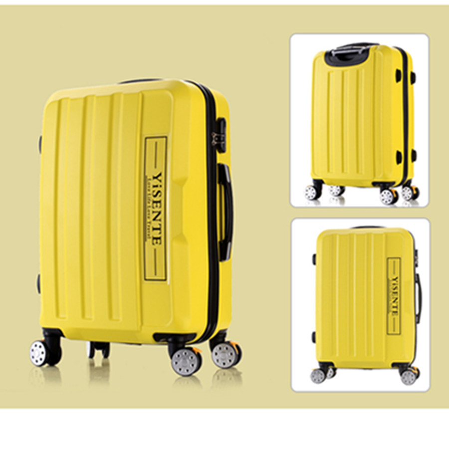 Universal wheels luggage travel bag picture14 20 24 28 password box large capacity trolley luggage brake wheel hard suitcase luggage
