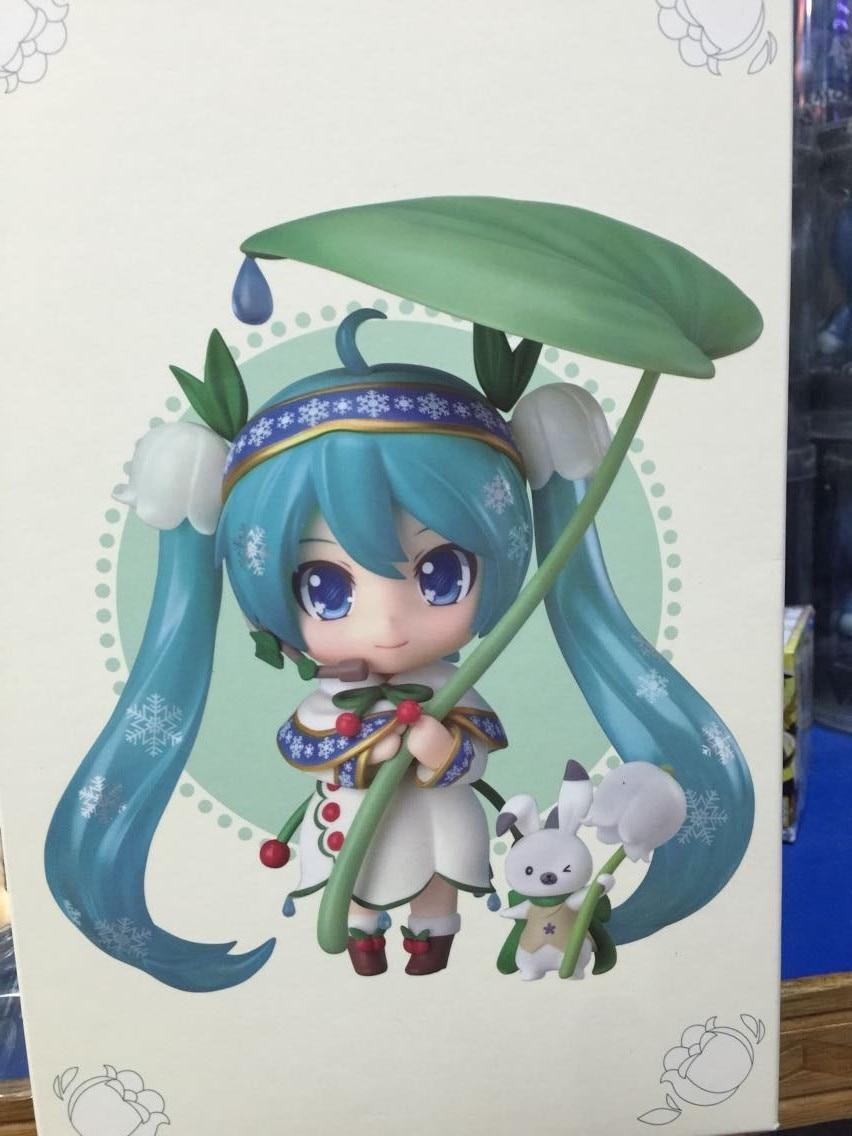New Nendoroid Hatsune Miku #493 Snow Miku Snow Bell Ver. PVC Action Figure Collectible Model Toy 10cm 1
