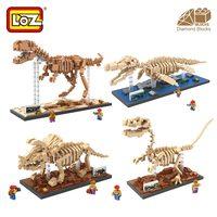 Loz blocchi di diamante t rex fossile di dinosauro skull set modello animale giocattoli mini nano blocchi dinosauro loz mattoni creator tyrannosaurus