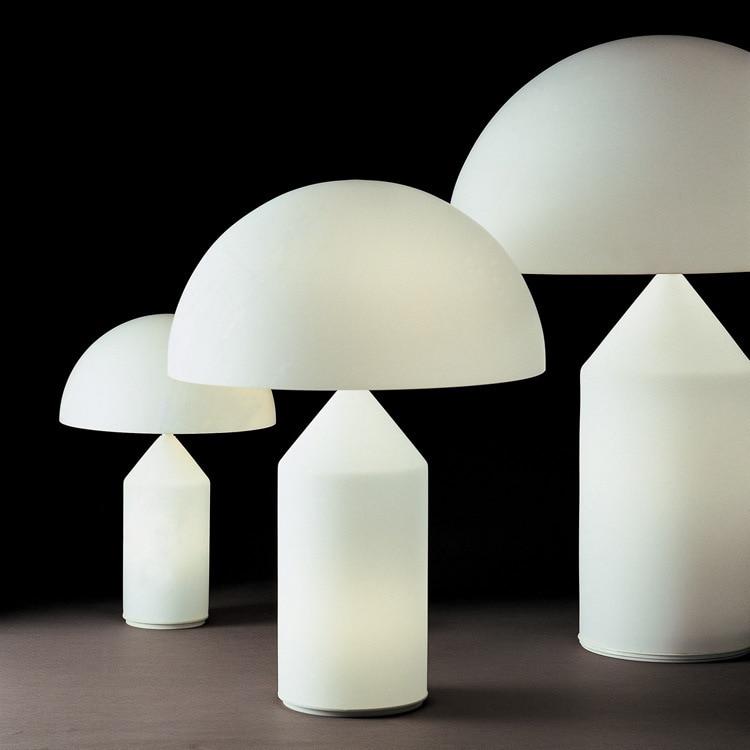 Туда 37x50 см Бесплатная доставка современный минималистский стиль Настольный светильник в форме гриба металла настольная лампа Мода Креати...