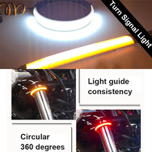 4PCS 12V Universal Motorcycle Flasher LED Rear Loop Buckle Flashing Ring Tail Light Turn Signals for Harley Universal vehicle