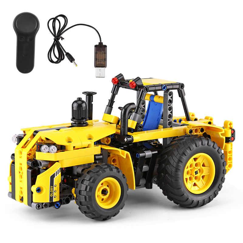Yeshin 13017 kompatybilne z lego Technic samochód RC ciągnik zestaw samochodowy klocki klocki samochód zabawka zabawki z ładowarką USB
