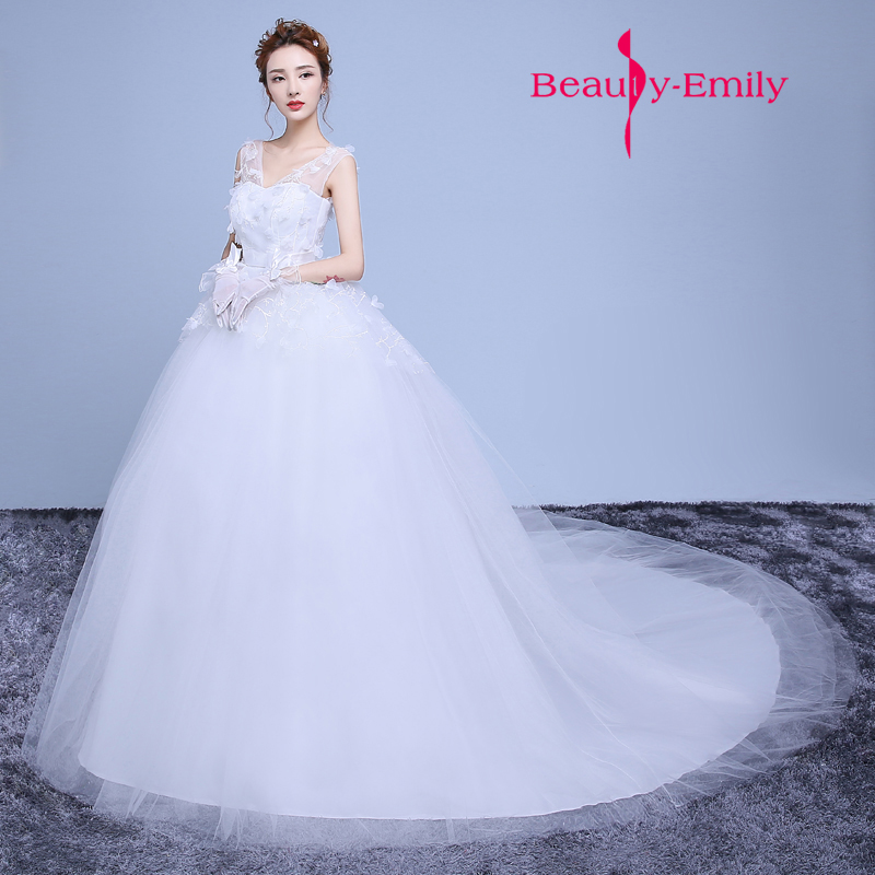 Beautiful Short Wedding Dress For Summer Wedding Holiday Shooting Strapless Detachable Train Wedding Gowns Beauty Emilly Robe De Mariee Wedding Dresses