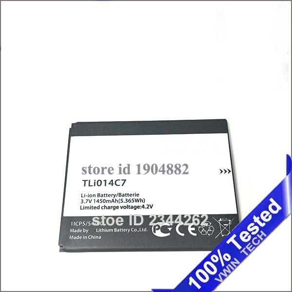 3.7 v 1450 mAh TLi014C7 La cellule téléphone batterie pour ALCATEL onetouch TLi014C7 1ICP5/54/60 batterie
