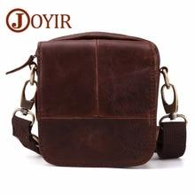 JOYIR Genuine Leather Brand shoulder bags Designer men Crossbody Bag natural Cowhide Shoulder Bags Vintage Small square