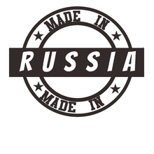 Made in Russia Decal Car Sticker Window Vinyl Decal Funny Poster Motorcycle Car Styling pegatina hunt forest reindeer decal hunting club buck sticker hollow sticker hunter car window vinyl decal poster motorcycle