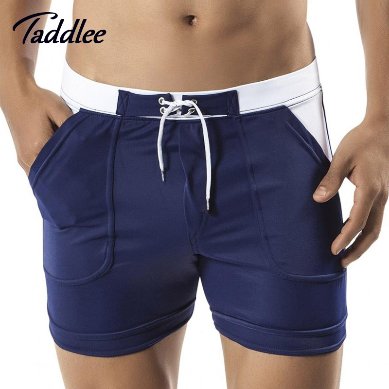 Taddlee Brand Man Men's Swimwear Swim Beach Board shorts swim trunks Swimsuits Bathing Suits Men Swimming Boxer Surf Wear Gay austinbem brand men swimwear swim bikini wear briefs trunks sexy swimsuits trunks shorts beach surf swimming suit
