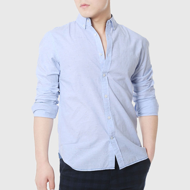 91f917a600f Mens Slim Fitted Shirts Social Men Casual White Shirts Oxford Chambray  Cowboy Plain Linen Shirts Designer Clothing High Quality