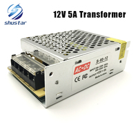 12V 5A 60W Switching LED Power Supply Lighting Transformers Led Driver For 3528 5050 5730 2835